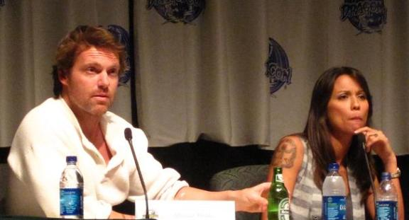 Michael Shanks and lexa doig at Dragon*Con 2010!