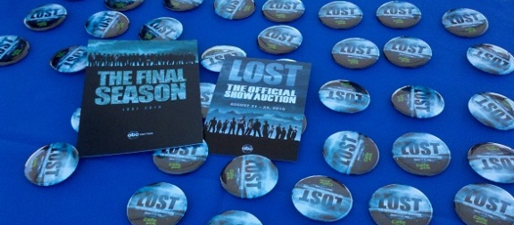 LOST Auction Catalog and collectors buttons!