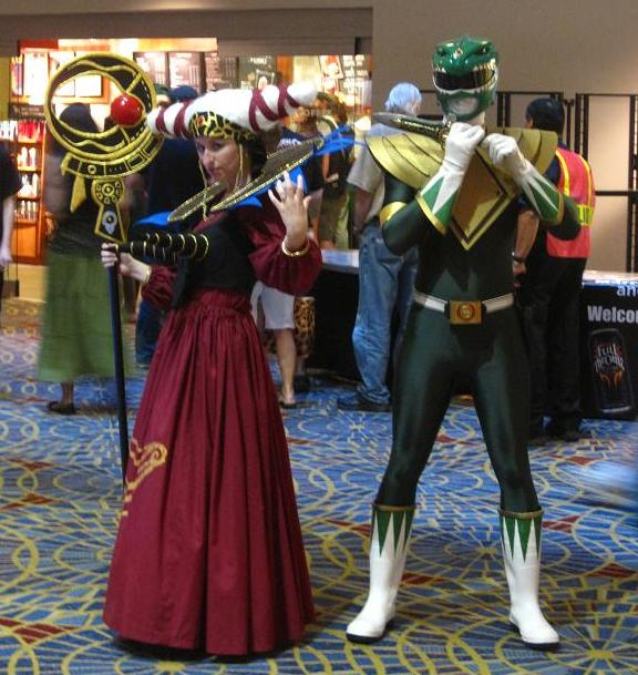 Rita Repulsa and the Green Ranger at Dragon*Con!