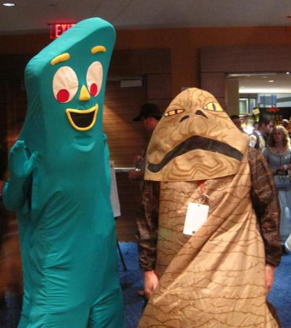 Gumby and Jabba the Hut at Dragon*Con 2010!
