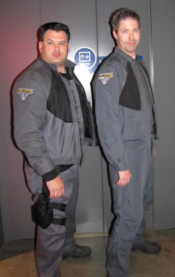 Ryan & Dean of Scifihero.net dressed in Atlantis BDU's