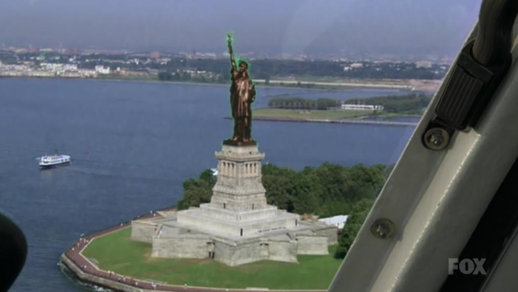 Fringe S2 Statue of Liberty, bronze