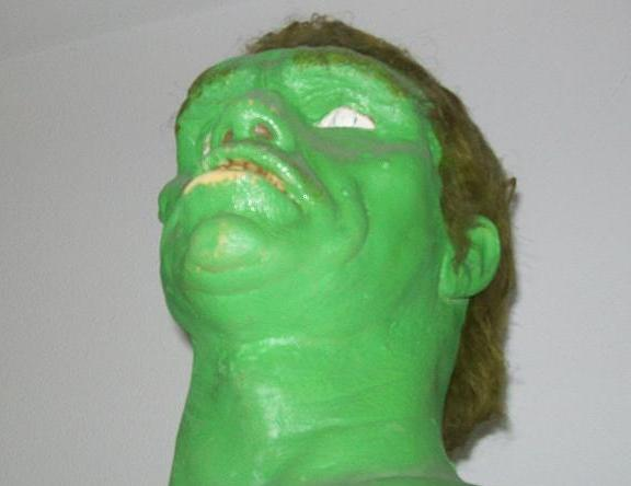 Kenny Johnson's original Incredible Hulk mask model!