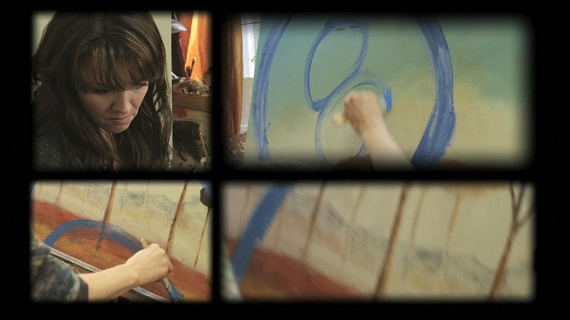 Helen determinedly paints her visions