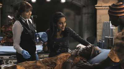Magnus and her team in the midst of the rescue effort
