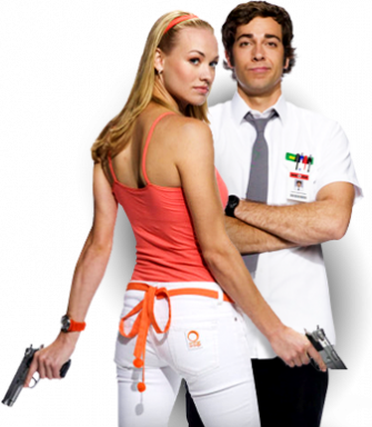 Chuck poster with Zachary Levi and Yvonne Strahovski on NBC!