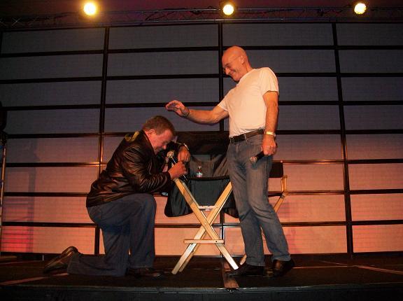 Capt Kirk on Knees to Sir Patrick! Click & visit Creation