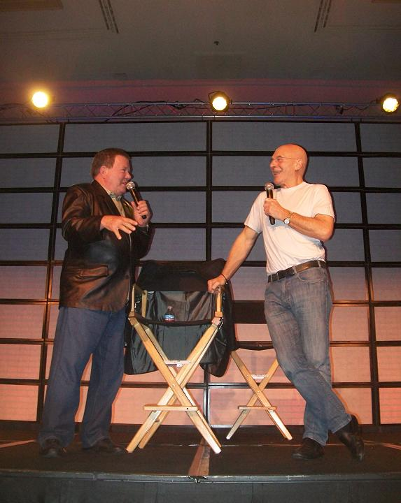 Titans of Science Fiction Joking - Captains Kirk & Picard
