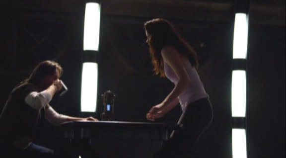 2010 SGU S1x12 Divided - Rush and Chloe in Mess Hall
