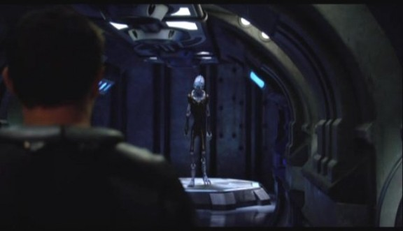 2010 Stargate Universe S1x11 Space - Colonel Young Sees Alien