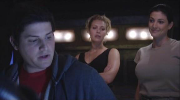 2010 Stargate Universe S1x11 Space - Eli TJ and Lt. James