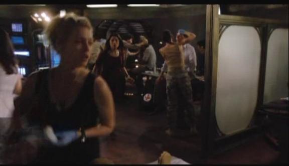 2010 Stargate Universe S1x11 Space - TJ Lt. James Dr Cain and Camile