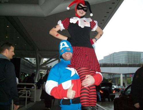 2010 WonderCon - Captain America and Jester