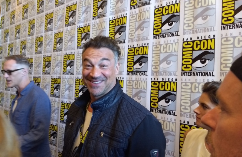 Aleks Paunovic at San Diego Comic-Con Set to Launch Vampire Counter Attack in Van Helsing!
