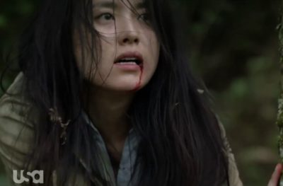 Treadstone S1x06 Wounded Soyun heads to a local village to get help