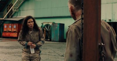 Van Helsing S4x05 Jennifer talks with Phil about Owen after Max tortured him at the prison camp