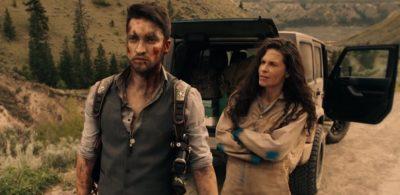 Van Helsing S4x06 Max and Jennifer hears Axels shotgun blast