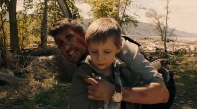 Van Helsing S4x06 Max holds Owen hostage at the river crossing
