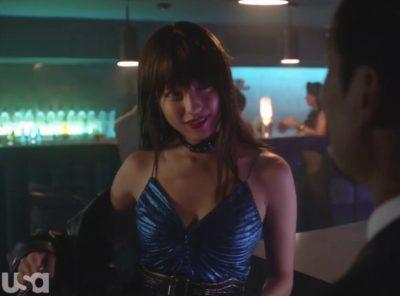 Treadstone S1x07 Soyun in the beautiful blue dress in the nightclub