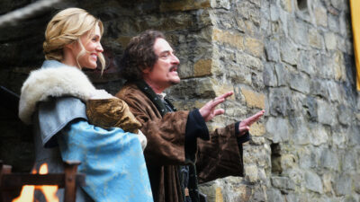 Van Helsing S5x01 Olivia and Count Dalibor visit the village with their new son