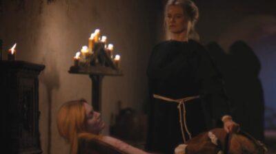 Van Helsing S5x02 Olivia is reanimated by Michaela in a bath of blood