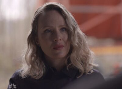 Debris S1x13 Irina looks at Maddox after he says there is another door for you Irina