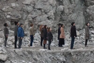Debris S1x13 People with newborn infants are all facing east
