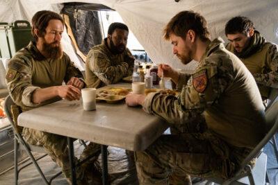Debris S1x11 Bryan with his team in Afghanistan