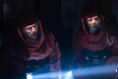 Debris S1x12 Finola and Bryan enter the darkened Orbital facility to investigate