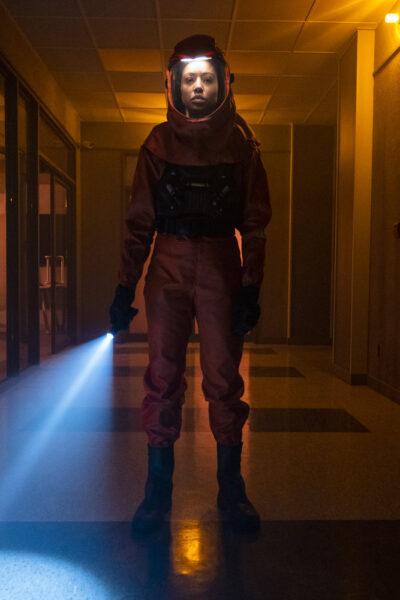 Debris S1x12 Finola seeks answers in the Orbital warehouse