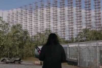 Debris S1x12 George enters a moth balled government communications facility