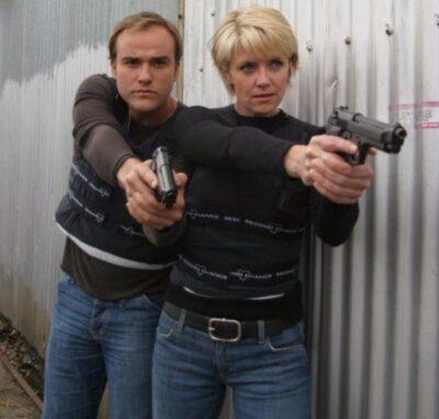 Stargate SG-1 David DeLuise and Amanda Tapping