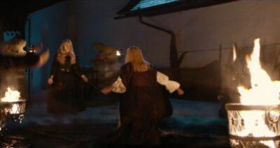 Van Helsing S5x03 Dracula strikes down the Sisterhood to demonstrate her power to Michaela