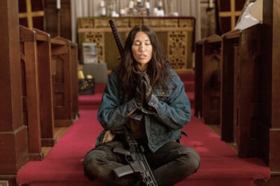 Van Helsing S5x07 Ivory says a prayer for our heroes