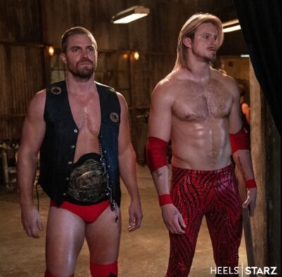 Stephen Amell and Alexander Ludwig in STARZ Heels