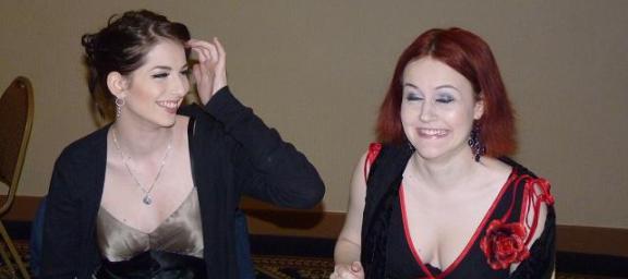 Auroris Fan Party 2010 - Genevieve Buechner and Brianna 2