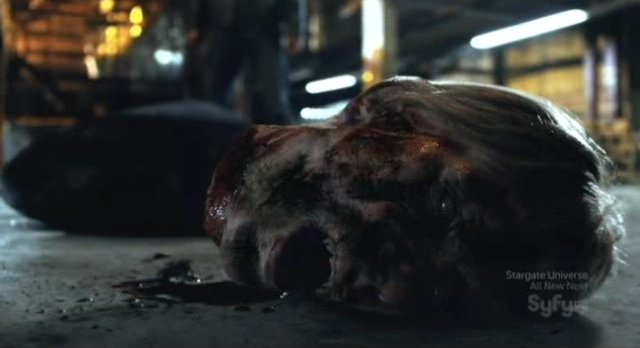 Being Human S1x13 - Bishops head is a bowling ball
