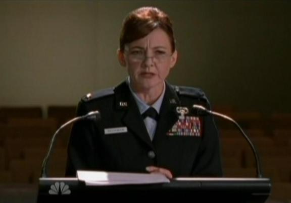Bonita Friedericy is wonderful as General Beckman!