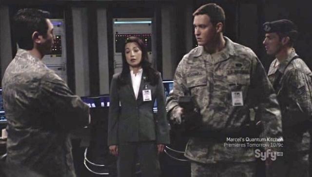 Brian McCaig on Stargate Universe - Image courtesy Syfy