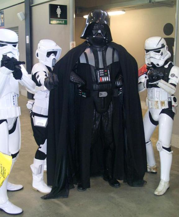 Darth Vader and Storm Troopers