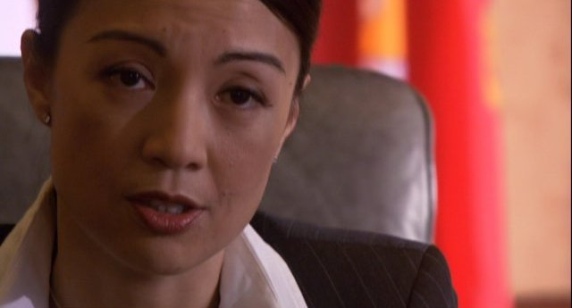 Eureka S4x11 - A none to happy MingNa as Senator Macala Nguyen