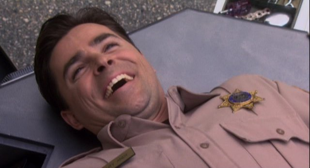 Eureka S4x11 - Kavan Smith as Andy the robotic cop