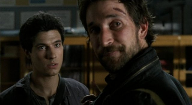 Falling Skies S1x05 - Tom and Hal get ready for mission