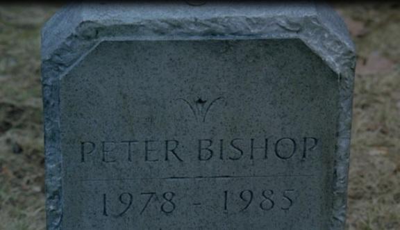 Fringe S1 Peter Bishops grave