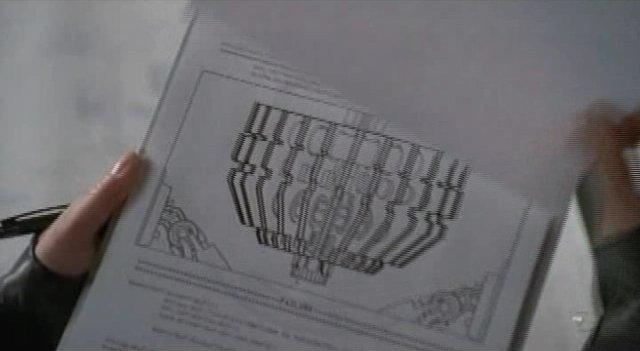 Fringe S3x11 Reciprocity - Peter examines machine diagram