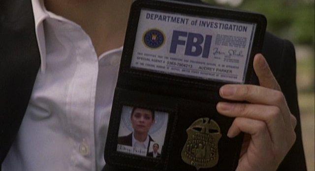 Haven S2x01 Alt Audrey shows her credentials