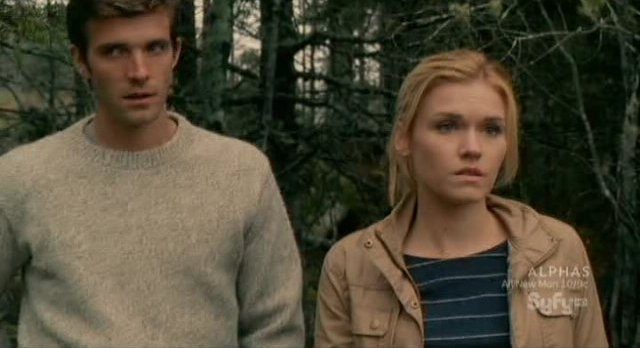Haven S2x03 - Audrey and Nathan at the coordinates