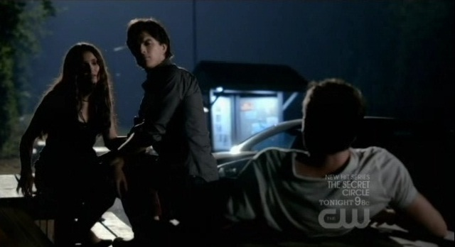 The Vampire Diaries 3x05 Katherine, Damon, and Jeremy road trip