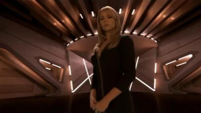 Laura Vandervoort as Lisa in Red Rain!
