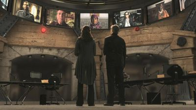 Sanctuary: E02 Firewall Helen Magnus & Declan MacRae in conference call